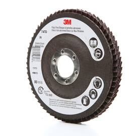 3M™ 051111-49613 747D Quick-Change Close Coated Flap Disc 4-1/2 In