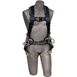 3M DBI-SALA Fall Protection Worker's Harness, Series: ExoFit™, XL, 420 lb Load, Tongue Leg Strap Buckle, Quick-Connect Chest Strap Buckle, Padding Shoulder Strap Buckle, Polyester Strap, Vest Style, Blue