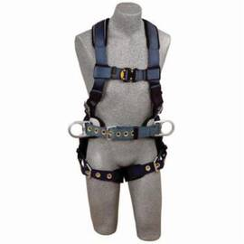 3M DBI-SALA Fall Protection Harness, Positioning, Series: ExoFit™, XL, 420 lb, Tongue Leg Strap Buckle, Quick-Connect Chest Strap Buckle, Polyester Strap, Vest, Nylon/Steel Hardware, Blue, Zinc Plated