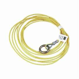 3M DBI-SALA Fall Protection Tagline, For Use With: Self-Retracting Lifeline, 25 ft L, 3/16 in Dia, Polypropylene/Steel, Yellow Zinc, 25 in L