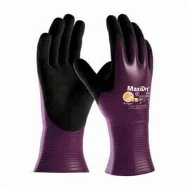 ATG® MAXIDRY® 56-426/XXL ULTRA LIGHTWEIGHT GENERAL PURPOSE GLOVES, COATED, 2XL, NYLON/LYCRA® PALM, LYCRA®/NYLON, BLACK/PURPLE, KNIT WRIST CUFF, MICROFOAM NITRILE COATING, RESISTS: ABRASION, CHEMICAL, OIL, PUNCTURE, TEAR AND SNAG, NYLON/LYCRA® LINING