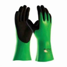 ATG® MAXICHEM® 56-635/S CHEMICAL RESISTANT GLOVES, S, LYCRA®/NITRILE/NYLON, BLACK/GREEN, NYLON/LYCRA® LINING, 14 IN L, RESISTS: ABRASION, CUT, TEAR, LIQUID AND PUNCTURE, SUPPORTED SUPPORT, GAUNTLET CUFF