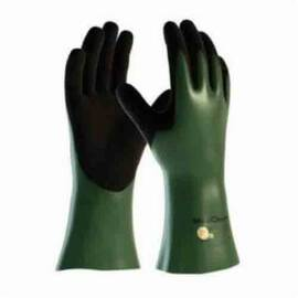 ATG® MAXICHEM® CUT™ 56-633/L CHEMICAL RESISTANT GLOVES, L, ENGINEERED YARN/NITRILE, BLACK/GREEN/WHITE, WHITE HPPE LINING, 12 IN L, RESISTS: ABRASION, CUT, PUNCTURE AND TEAR, SUPPORTED SUPPORT, GAUNTLET CUFF