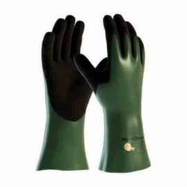 ATG® MAXICHEM® CUT™ 56-633/S CHEMICAL RESISTANT GLOVES, S, ENGINEERED YARN/NITRILE, BLACK/GREEN/WHITE, WHITE HPPE LINING, 12 IN L, RESISTS: ABRASION, CUT, PUNCTURE AND TEAR, SUPPORTED SUPPORT, GAUNTLET CUFF