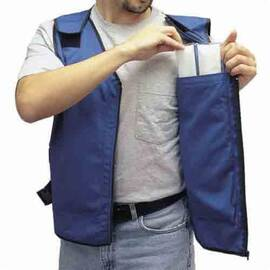 ALLEGRO® 8413-04 COOLING VEST, XL, ROYAL BLUE, COTTON/POLYESTER, ZIPPER FRONT CLOSURE, 4 POCKETS