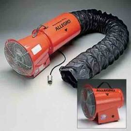 ALLEGRO® 9513-05 EXPLOSION PROOF BLOWER, 115 VAC, 8 IN DIA DUCT, 890 CFM MAX FLOW IN FREE AIR, SPECIFICATIONS MET: UL LISTED