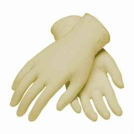 PIP® 62-323PF Ambi-Dex® Disposable Glove, Food Grade, Latex Rubber, Liquid Resistant, 9.3 in Length, Natural