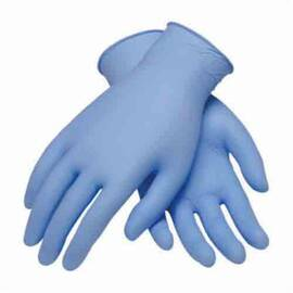 PIP® Ambi-Dex® Disposable Gloves, Heavy Duty Industrial, Series: 63-332, XL, Nitrile, Blue, Ambidextrous, Knit Wrist Cuff, Powdered, 9.4 In Length, Resists: Liquid And Puncture
