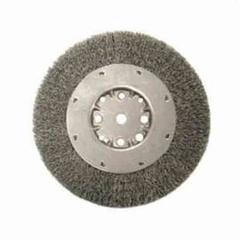Anderson Products 01544 Dmx Medium Face Wire Wheel Brush, 6 In Dia X 3/4 In W, 5/8-1/2, 0.014 In Crimped Wire