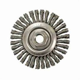 Anderson Products 11245 Stcm Narrow Face Wire Wheel Brush, 6 In Dia X 3/16 In W, 5/8-11, 0.02 In Stringer Bead/Twist Knot Wire