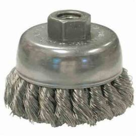 Anderson Products 18425 Us Series High Impact Cup Brush, 6 In Dia, 5/8-11, 0.035 In Carbon Steel Knot Wire