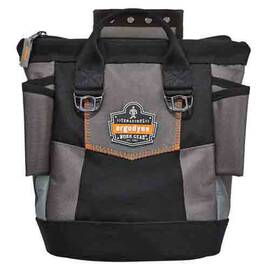 Arsenal® Tool Pouch, Premium Topped, Series: 5517, 10 Pockets, 11-1/2 in Height, 6 in Width, Polyester, Black, 20 lb Load