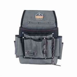 Arsenal® Tool Pouch, Electrician's, Series: 5548, 2 Pockets, 12-1/2 in Height, 3-1/2 in Width, 1680D Ballistic Polyester, Gray