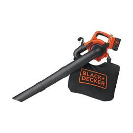 Black+Decker® Cordless Handheld Sweeper, 85 cfm, 120 mph Air, Lithium-Ion Battery Type, 40 V Battery, 3 Ah Battery, 0.5 hr Recharge Time, 65 dB, 1 Speed, Toggle Switch Control, Soft Grip, Plastic, Black/Orange