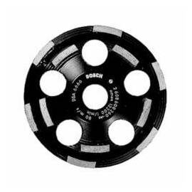 Bosch Cup Wheel, 5 in Wheel Diameter, 0.83 in Wheel Thickness, 7/8 in Center Hole, Diamond Abrasive, 12200 rpm Maximum, Applicable Materials: Lime Plaster, Hard Finish Plaster, Sandstone and Abrasive Concrete