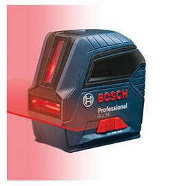 Bosch Cross Line Laser, Bare Tool Bare Tool/Kit, +/-1/8 in Accuracy, 50 ft Measuring, +/-4 deg Auto Leveling, 2 Beam, Laser Class: 2, 14 to 22 deg F, 3 x AA Battery, Plastic Housing Material, 4.4 in L x 2.2 in W x 4.2 in H