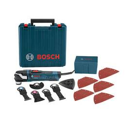 Bosch Oscillating Multi-Tool Kit, Series: StarlockPlus®, 120 VAC, 4 A, 8000 to 20000 opm, Plastic Composite/Aluminum Housing, Ball Joint Cord Swivel Control, 11 in L x 2-1/2 in W x 3-3/4 in H