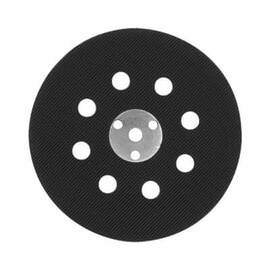 Bosch Backup Pad, Hard Density, 5 in Pad Diameter, Hook and Loop Attachment, 8 Holes