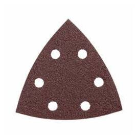 Bosch Abrasive Triangle, 6-Hole Detail Sander, 3-1/2 in Length, 60 Grit, Aluminum Oxide Abrasive, Open Coat, Applicable Materials: Wood, Red
