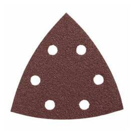 Bosch Abrasive Triangle, 6-Hole Detail Sander, 3-3/4 in Length, 80 Grit, Aluminum Oxide Abrasive, Open Coat, Applicable Materials: Wood, Red