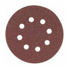Bosch Hook and Loop Sanding Disc, 5 in Diameter Disc, 40 Grit, Aluminum Oxide Abrasive, 8 Number of Vacuum Holes