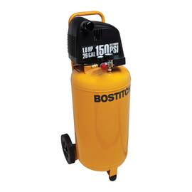 Bostitch® BTFP02028 Vertical Air Compressor, 4.1 SCFM At 90 psi, 1.8 Hp, 150 psi, 26 gal Tank