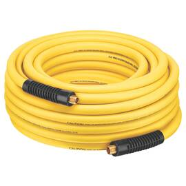 Bostitch® Air Hose, Specifications: 1/4 in NPT Thread, 300 psi Maximum Operating Pressure, Hybrid Polymer Blend, Yellow, 3/8 in x 50 ft Dimensions