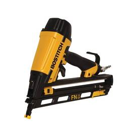 Bostitch® Nailer Kit, FN-Style Angled, Kit Tool/Kit, 1-1/4 to 2-1/2 in Fastener, Adhesive Collation, 25 deg Collation, 130 Nails Magazine, Bottom Load Loading, Sequential Actuation Trigger, Non-Marring, 0.04 cfm, 70 to 120 psi Air, 1/4 in Male Air Inlet,