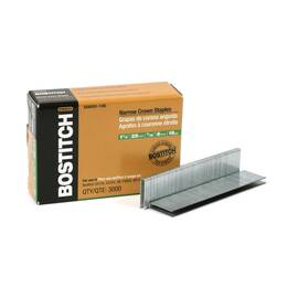Bostitch® Staples, Narrow Crown, Series: SX Series, 7/32 in Crown Width, 1-1/8 in Leg Length, 18 ga Wire, Chisel Point, Smooth Shank, Adhesive Collation, Steel, Galvanized