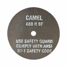 CGW® Cut-Off Wheel, High Speed Premium Straight, 3 in Wheel Diameter, 1/16 in Wheel Thickness, 3/8 in Center Hole, 36 Grit, Medium Grade, Aluminum Oxide Abrasive, 23900 rpm Maximum, Resin Bond, Applicable Materials: Metal and Steel, Wheel Type Number: Ty