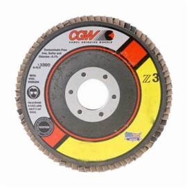 CGW® 42320 Contaminate-Free Premium Regular Coated Flap Disc 4-1/2 In 24 Grit