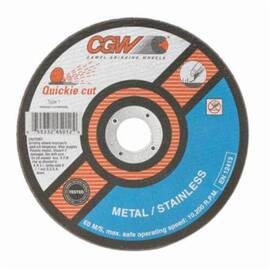 CGW® Quickie Cut™ 45002 Type 27 Flat Cut-Off Wheel 4-1/2 In Dia X 0.0