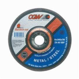 CGW® Quickie Cut™ 45005 Type 27 Reinforced Cut-Off Wheel 5 In Dia X 0