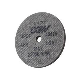 CGW® Deburring Wheel, High Speed, Aluminum Oxide Abrasive, 2 in Wheel Diameter, 1/4 in Center Hole, 1/8 in Face Width, Coarse Grade, 28000 rpm Maximum