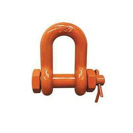 CM® M951P Super Strong Chain Shackle, 4.5 Ton Load, 5/8 In, 3/4 In Bolt/Nut/Cotter Pin, Orange Powder Coated