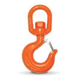 CM® M3409A Swivel Rigging Hook, 7 Ton Load, Eye Attachment
