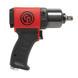 CP Impact Wrench, Tool/Kit: Bare Tool, Square Drive, 1/2 in Drive, 1300 bpm, 110 to 350 N-m Forward/475 N-m Reverse, 11500 rpm, 24.2 cfm, 90 psi Air, 1/4 in Air Inlet, 3/8 in Minimum Hose Size, Steel Housing, Ergonomic, 100 dBA Power/89 dBA Pressure, 6.9