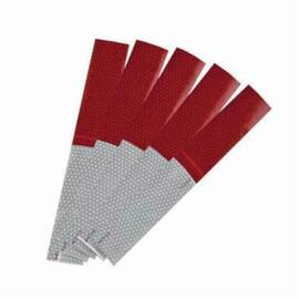C.H.Hanson® 55305 D.O.T Striped Reflective Safety Tape, 24 in L X 2 in W, Red/Silver