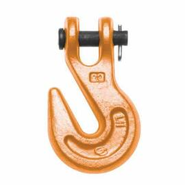 Campbell® Grab Hook, 4100 lb Load, 30/43 Grade, Clevis Attachment, 1/4 in Trade, Alloy Steel, Painted Finish