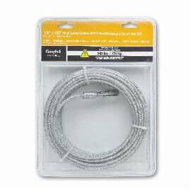 Campbell® Coated Cable, 1/8 in Cable, 100 ft Length, 7 x 7 Strand, 340 lb Load, Galvanized Steel