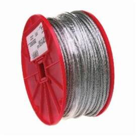 Campbell® Cable, High Strength, 5/16 in Cable, 200 ft Length, 7 x 19 Strand, 1960 lb Load, 6 in Spool Width, Galvanized Steel