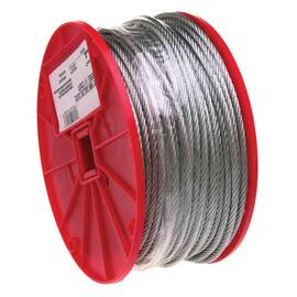 Campbell® High Strength Cable, 3/8 in Cable, 150 ft Length, 7x19 Strand, 2880 lb Load, 6 in Spool Width