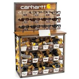 CARHARTT® CHBD144 BULK DISPLAY WITH INTERCHANGEABLE BIN LABELS AND ADJUSTABLE MIRROR, 41 IN H X 14 IN W