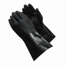 PIP® Chemgrip™ 57-8640R Multi-Dipped Supported Chemical Resistant Gloves, L, Neoprene Palm, Black, Cotton
