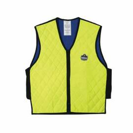 CHILL-ITS® 12536 6665 COOLING VEST, 2XL, LIME, NYLON/POLYMER-EMBEDDED FABRIC, EVAPORATIVE/SOAK IN COLD WATER COOLING, ZIPPER FRONT CLOSURE