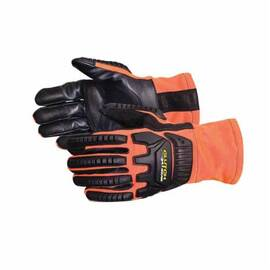 CLUTCH GEAR® MXVSBFR/M ARC FLASH ANTI-IMPACT GLOVES, M, TPR, SLIP-ON CUFF