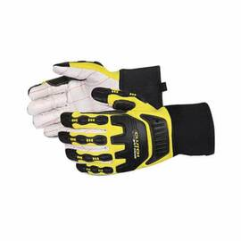 CLUTCH GEAR® Q18VSB/XL HEAVYWEIGHT ANTI-IMPACT GLOVES, XL, TPR/KEVLAR®, SLIP-ON CUFF
