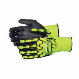 CLUTCH GEAR® SHVPNTVB/S ANTI-IMPACT GLOVES, S, TPR/PVC, KNIT WRIST CUFF