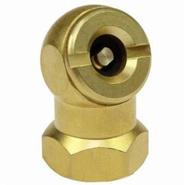 Coilhose® Ball Chuck and Clip, Closed Check, 1/4 in FPT, Brass, Domestic