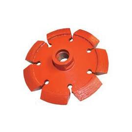 Core Cut® 27542 Heavy Duty Orange Tuck Point V-Crack Diamond Blade, 4 In Blade, 5/8 In, 0.31 In W